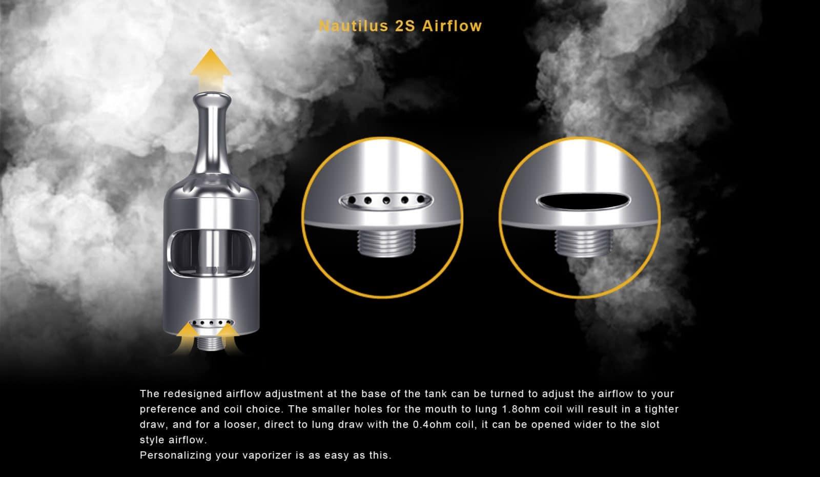 nautilus 2s airflow